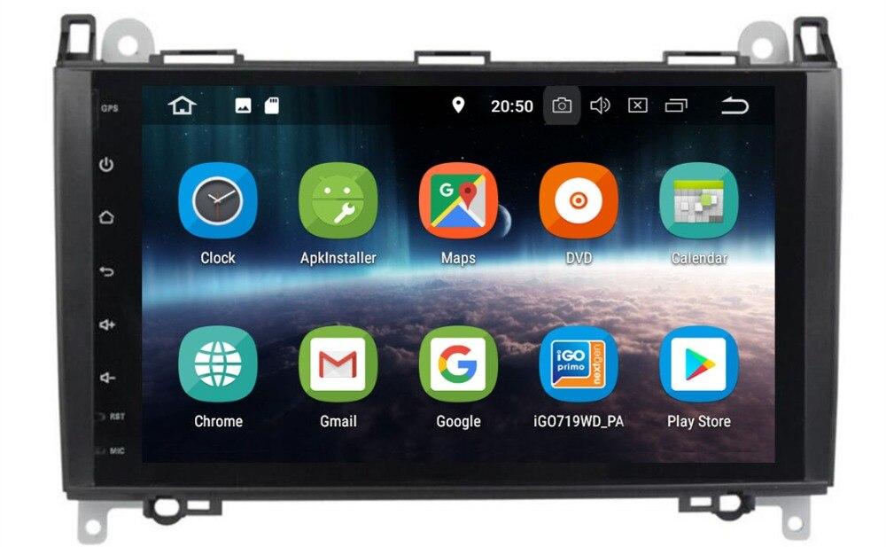 QUAD Core PX30 reproductor de DVD de coche 2G + 16G Android 9,0 para Benz Sprinter W169 W245 W906 Viano Vito W639 B200 con GPS de navegación Radio
