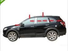 Chevrolet captiva 2008-2013 용 스테인레스 스틸 크롬 창틀 벨트 트림
