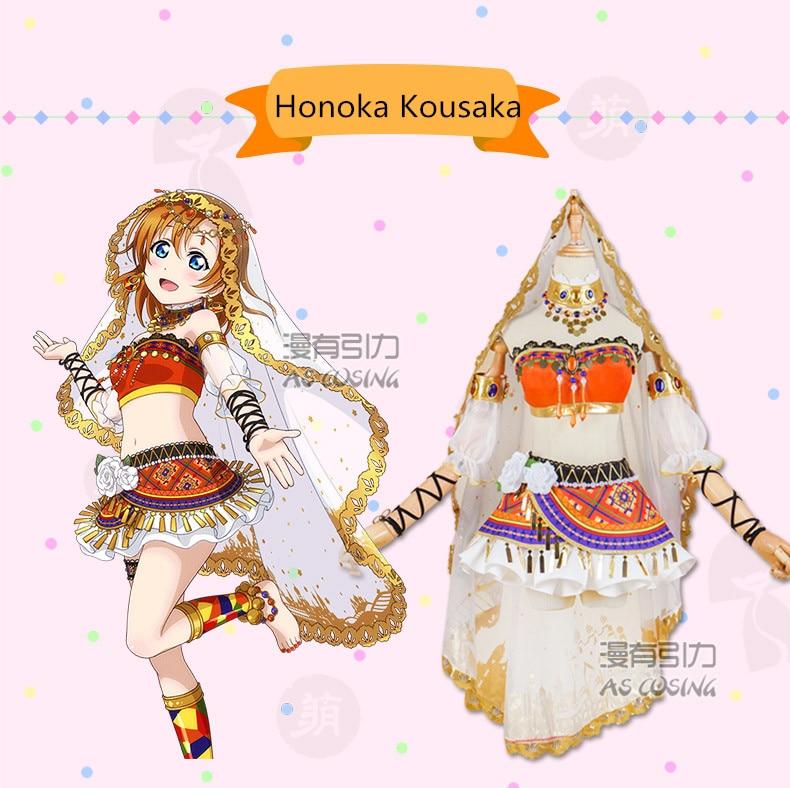 Love live! School Idol Project Awakening Arab Dancer Series Honoka Kousaka Cosplay Costume Halloween costume Free Shipping.