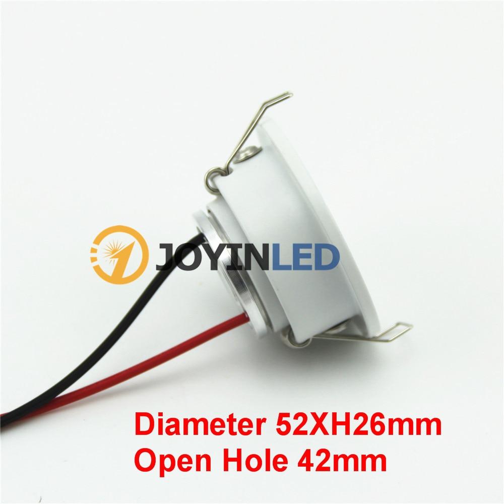 Dimmable MINI White Recessed COB led Spot light 1W 3W led Downlight 10pcs/lot AC85-265V Cabinet Led light RoHS CE enlarge