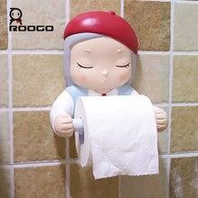 Roogo Cartoon Dream Girl Toilet Paper Holder Resin Bathroom Decoration Accessories Creative Lovely Towel Holder