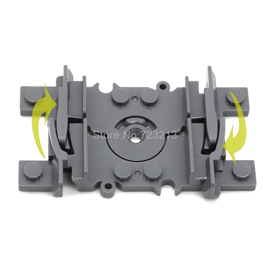 10pcs Flexible forked Rail Tracks for Train Soft Railway MOC Building Block Sets Models Kids Toys for Children