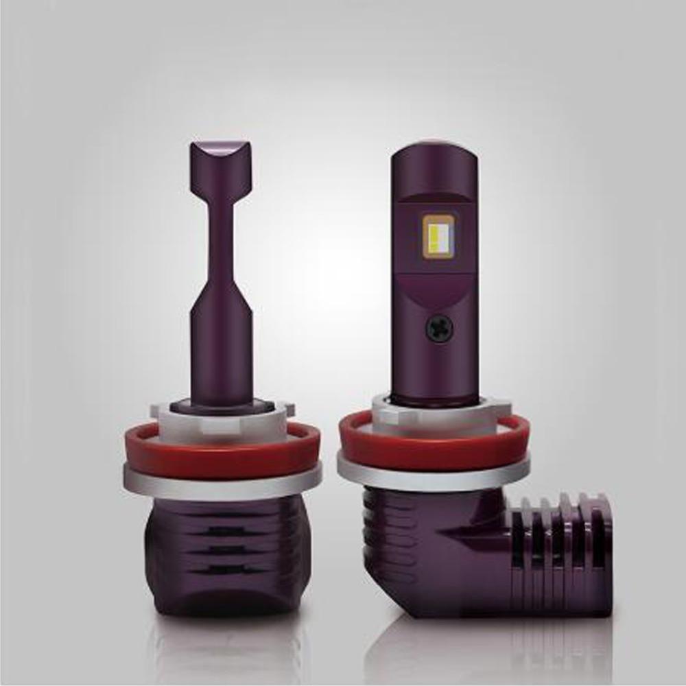 Garantía de por vida Mini H7 bombilla de faro LED H8 H9 H11 luz del coche 9005, 9006, 9012, 5202 D PSX24W P13W PSX26W 6000k 5200LM 12V 35W