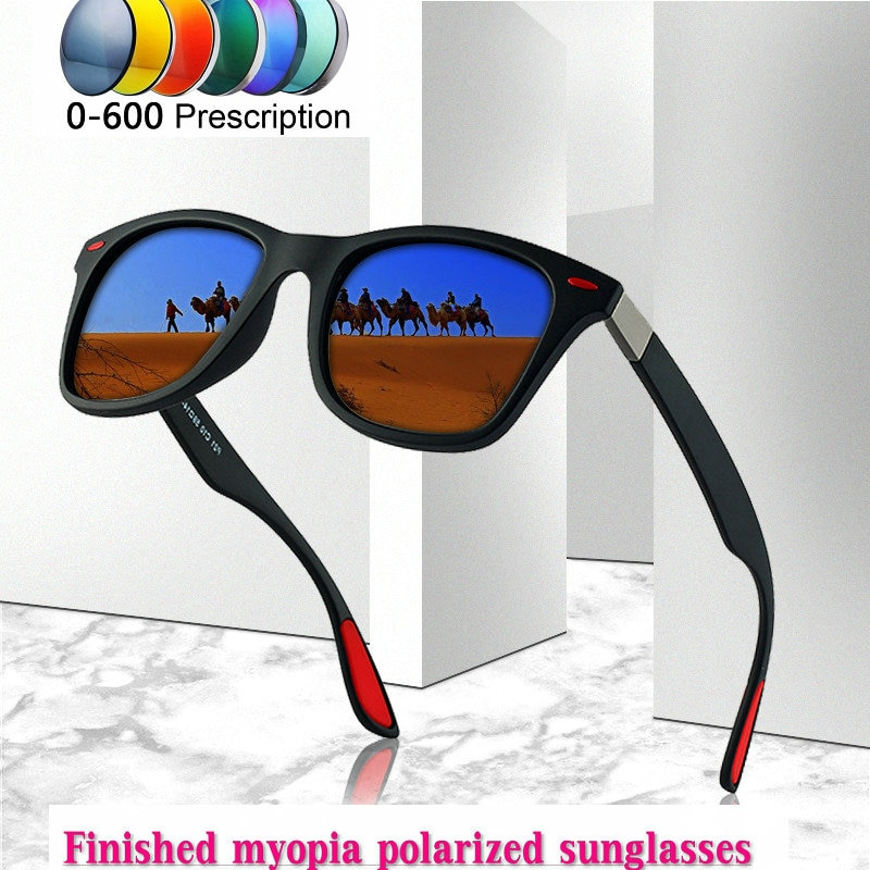 2019 Diopter hombres mujeres hecho a medida miopía menos prescripción polarizada LensRetro esunglasses hombres gafas de conducción UV400 NX