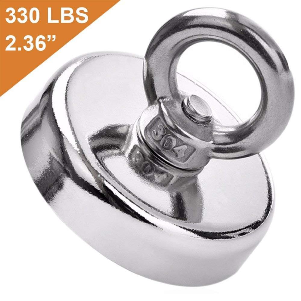 50 Stuks Super Sterke Neodymium Vissen Magneten, £ 330 Trekkracht Zeldzame Aarde Magneet Met Verzonken Gat Eyebolt Diameter