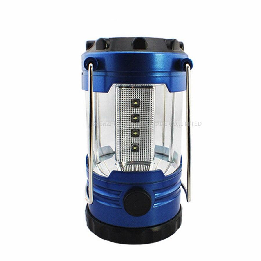 144pcs/lot 12 LED Lantern Light Bivouac Camping Light Hiking Fishing Tent Lamp with Compass Blue Color White Light HYY133 enlarge