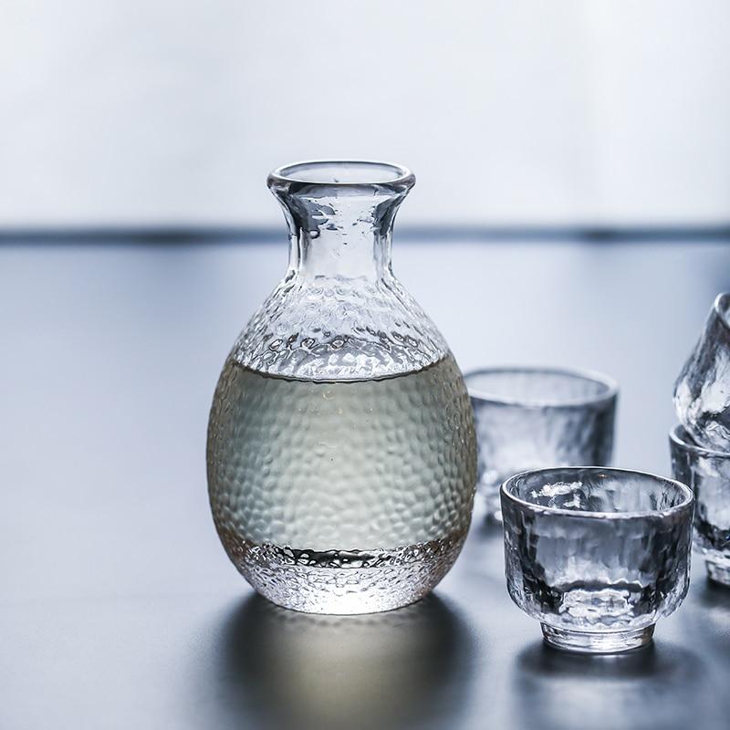 Dirnkware Cor Azul chaleira Legal-estilo Japonês conjunto de vinho de vidro jarro jarros de vidro pequeno 1 pote 4 xícaras