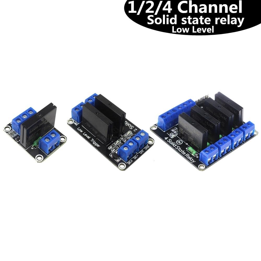1/2/4 canal relé de estado sólido G3MB-202P DC-AC PCB SSR en 5VDC 240V AC 2A para arduino