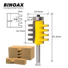 8mm tige Rail réversible doigt Joint colle routeur Bit cône Tenon bois Cutter outils électriques