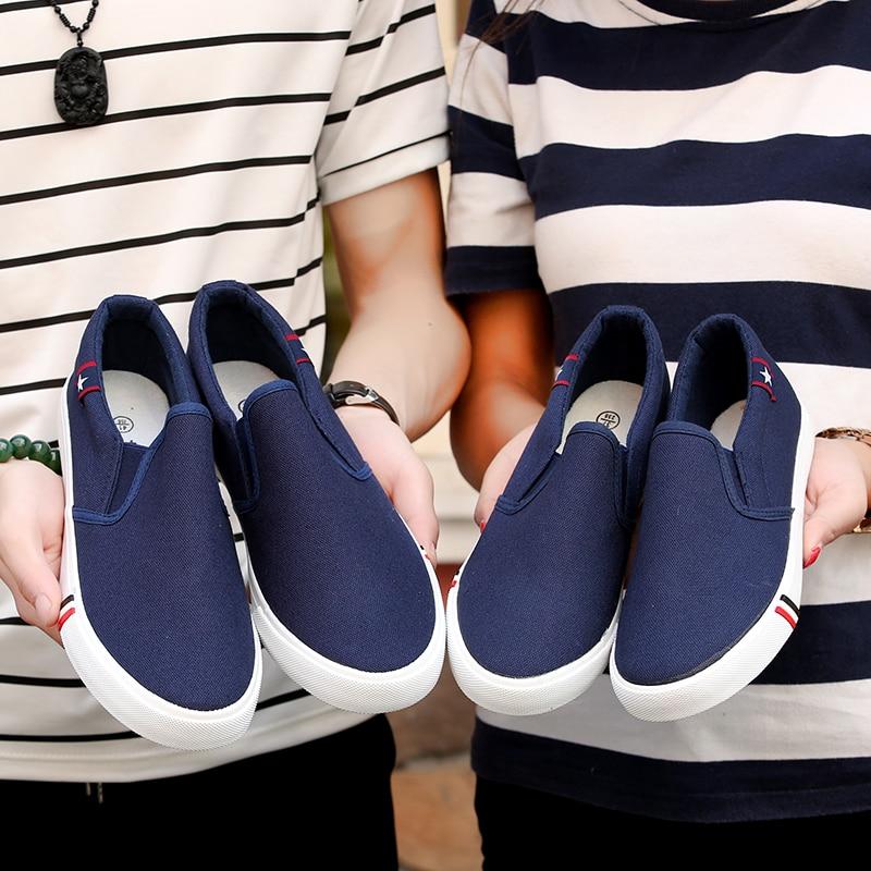 BVNOBET זול בד נעלי יוניסקס סניקרס לנשימה להחליק על Mens נעליים יומיומיות הליכה נשים נעלי Zapatillas Hombre Para