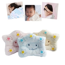Almohada moldeadora para recién nacido, suave y correcta posición, patrón de estrella, previene almohadas de cabeza plana, BM88