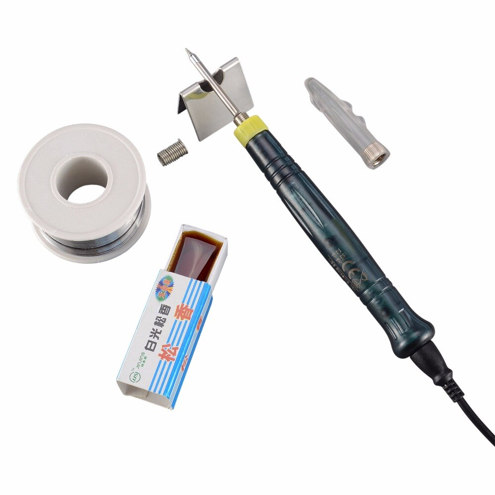Portable USB Powered 5V 8W LED Indicator Soldering Iron + Wire + Rosin + Sponge