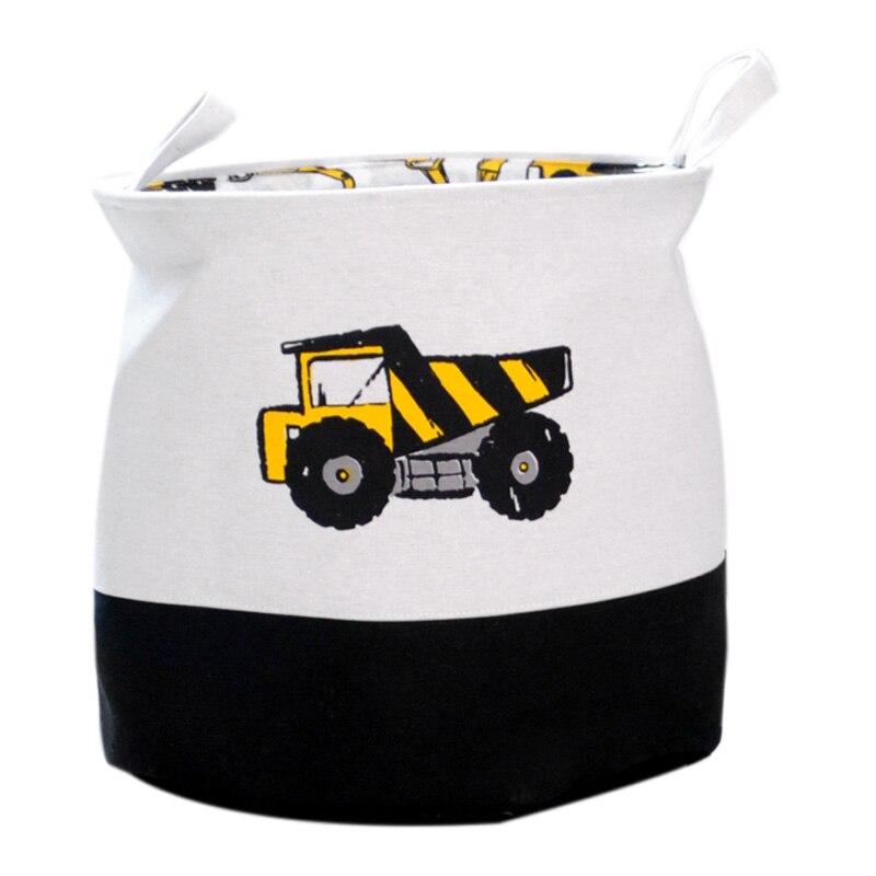 Cesta de almacenamiento impresa de coches de dibujos animados para juguetes de tela, organizador de ropa, cesta grande plegable para ropa sucia 40x33x40c