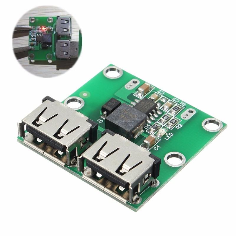Dual USB Circuit Board Output 9V/12V/24V/36V to 5V DC-DC 3A Step Down Power Module Converter for Mobile Phone Circuits