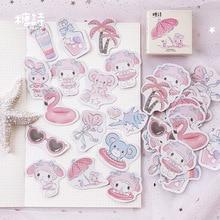 45 Pcs/pack Kawaii Animals Adhesive Diy Sticker Stick Label Notebook Album Diary Decor Student Stationery Kids Gift