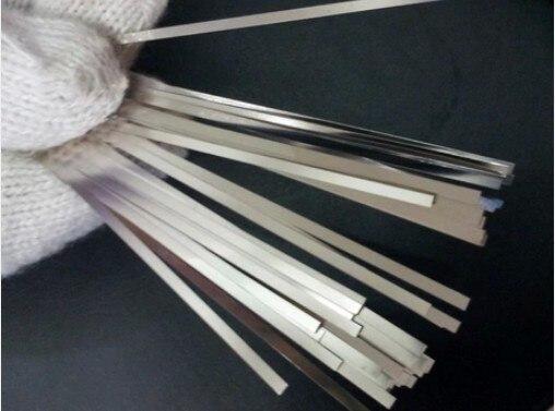 500 unids/lote, 0,1x5x100mm, hojas de tira de acero chapado en níquel para equipos de soldadura por puntos de batería
