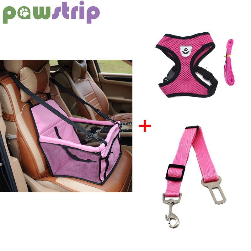 غطاء مقعد السيارة لمقعد الكلب ، سلة الحيوانات الأليفة ، حزام أمان شبكي ، سترة ، مقود الكلب ، حامل السفر للقطط ، حقائب معلقة