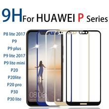 Para huawei p20 lite completa vidro temperado protetor de tela para huawei p9 lite 2017 mini p 20 pro p30lite huawie huwei huwei huawe