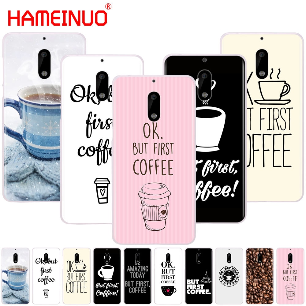 HAMEINUO Ok But First Coffee cover phone case for Nokia 9 8 7 6 5 3 Lumia 640 640XL 2018