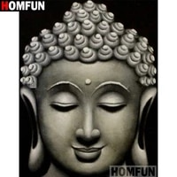 homfun full squareround drill 5d diy diamond painting religious buddha embroidery cross stitch 5d home decor gift a16408