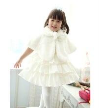 Niños Niñas bebé piel sintética Tippet envolver encogimiento de hombros fiesta ocasión boda princesa capa