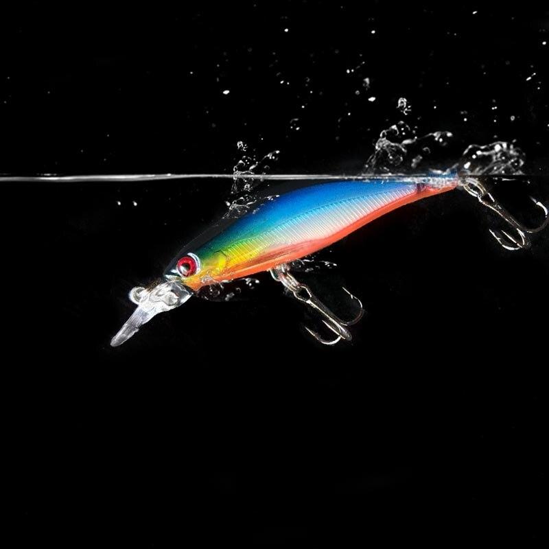 Sealurer короткая наживка на язык 8 см 6 г, жесткие пластиковые лазерные воблеры, 3D-глаза, тонущий гольян, кривошипная наживка, рыболовная снасть, ...