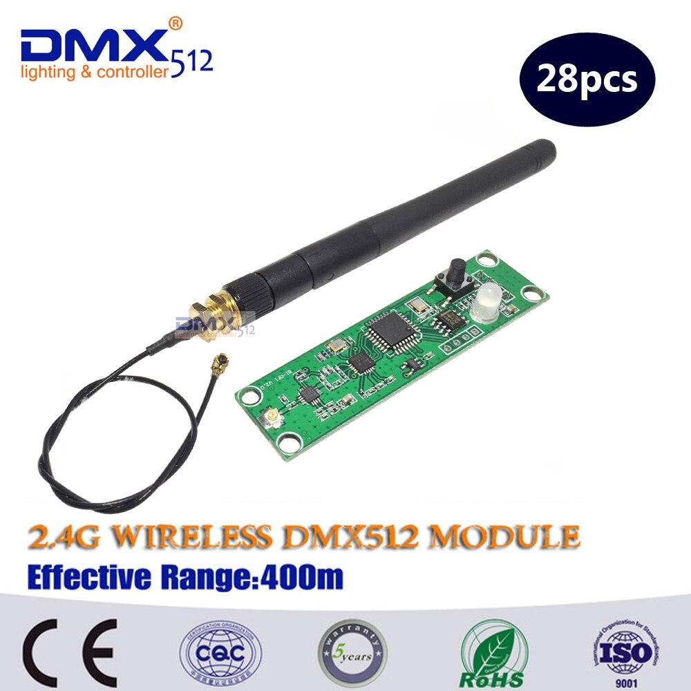 Envío Gratis placa PCB receptor DMX inalámbrico con precio de fábrica, frecuencia de salto de 126 canales