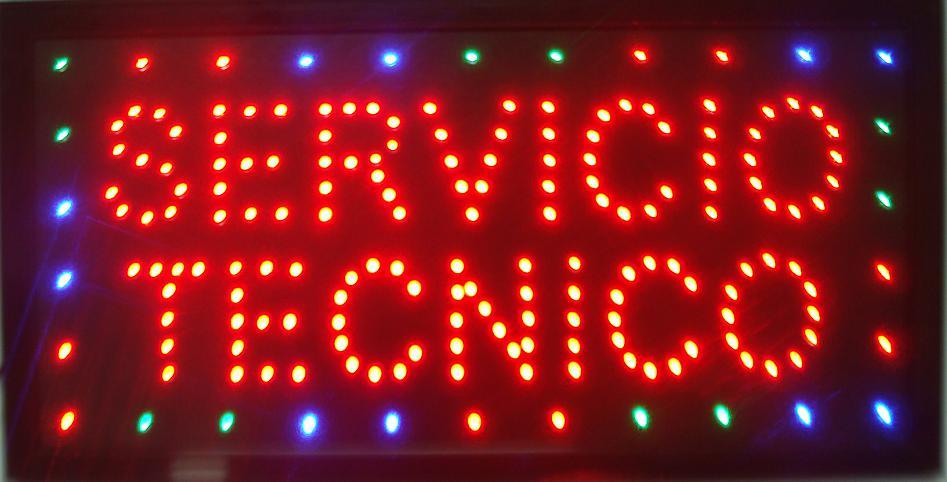 CHENXI-señal led personalizada para exteriores, gráficos Semi-exterior de 10x19 pulgadas, Servicio técnico, letrero de tienda comercial