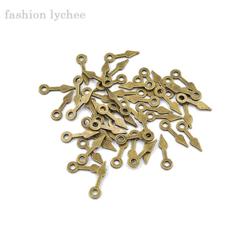 Moda lychee 50 Uds Metal antiguo bronce Steampunk reloj mano colgante encanto para pulsera collar DIY accesorios de joyería
