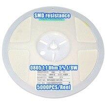 1 bobine 0805 1.1R 1.1 Ohm 5% 1/8W   Résistance au SMD, 5000 pièces/bobine