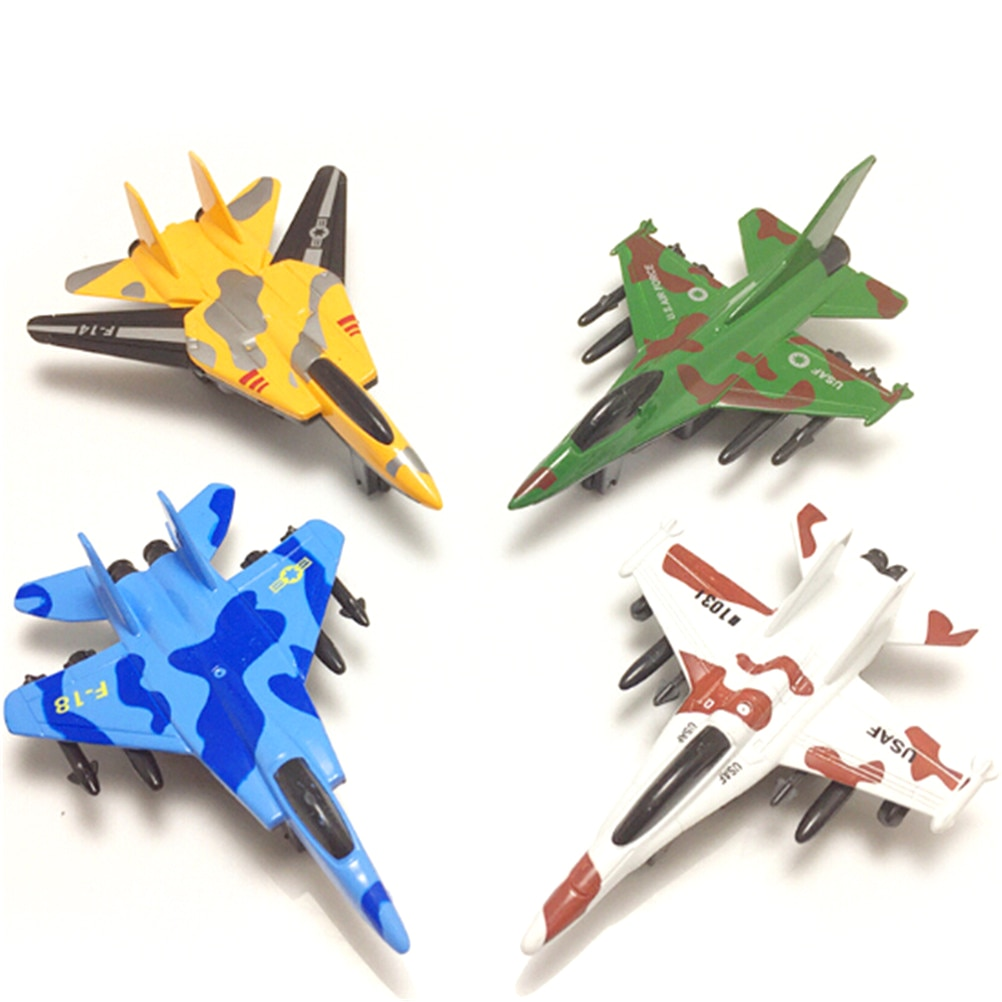Lifelike Warplane Kids Children Pull Back Airplane Aircraft Desk Toy Birthday Xmas Gift Military Model Toy