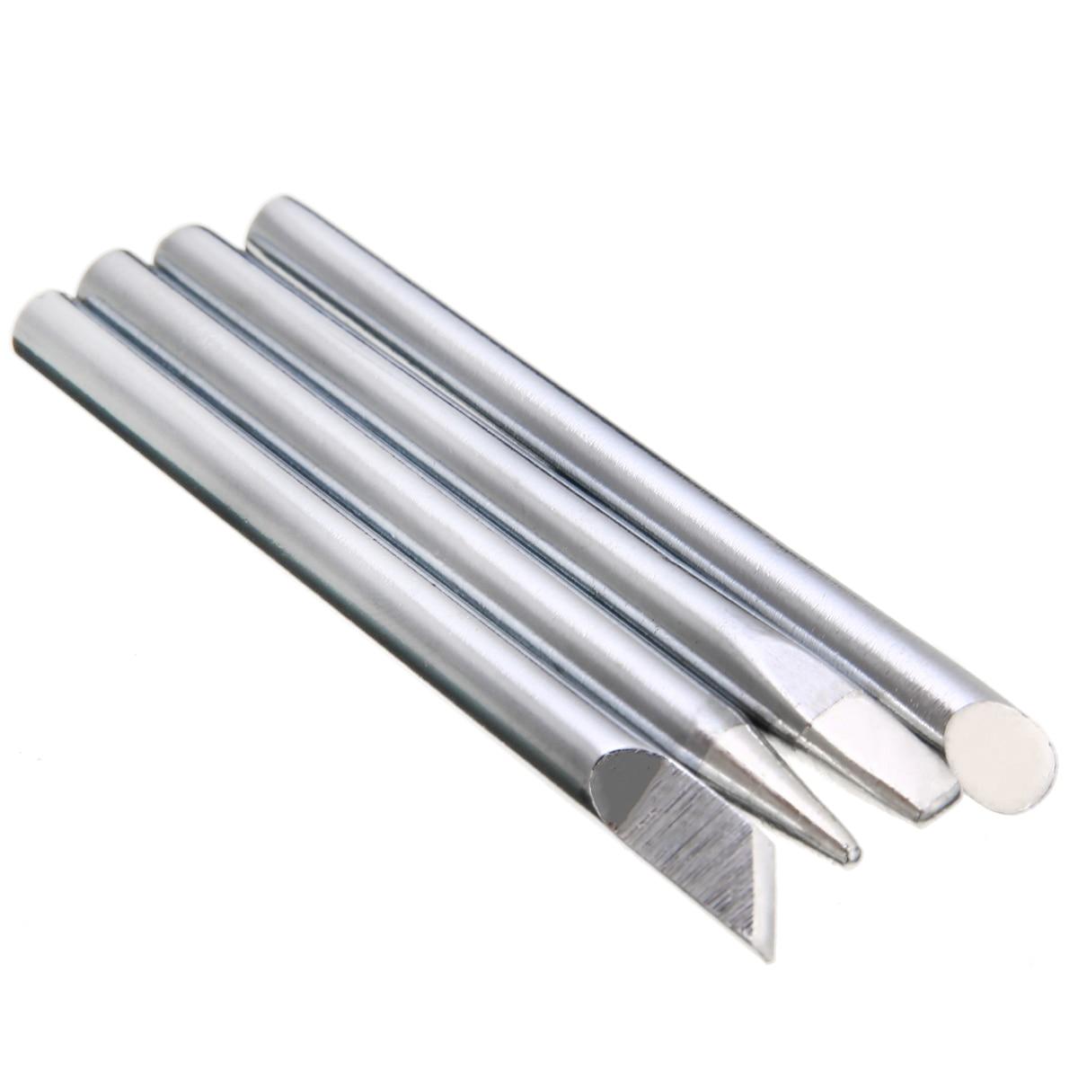 4 Pçs/set 60W Poder Ponta do Ferro de Solda Substituição Da Cabeça 5.5 milímetros Haste de Cobre Para Solda Elétrica Ferro De Solda Ferramenta de Cabeça