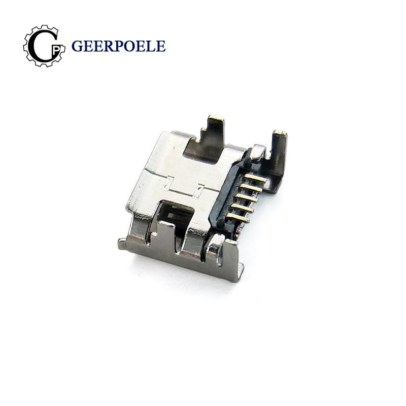 20 pcs/lot DIP 90 Degrees 4 Foor Micro USB Connector Plastic Shell Jack Tail Sockect Plug Terminals