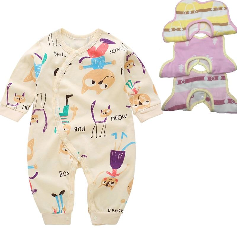 Baby Clothing Set Rompers +3pcs Bibs Infant Newborn sets  girls boys suits 0-12months (bibs random mixed)