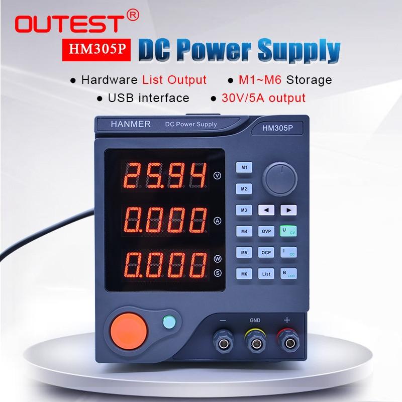 برمجة امدادات الطاقة OUTEST HM305P 30 فولت/5A تيار مستمر موفر طاقة تنظيمي LED الرقمية ينظم مختبر الصف التصنيع باستخدام الحاسب الآلي امدادات الطاقة