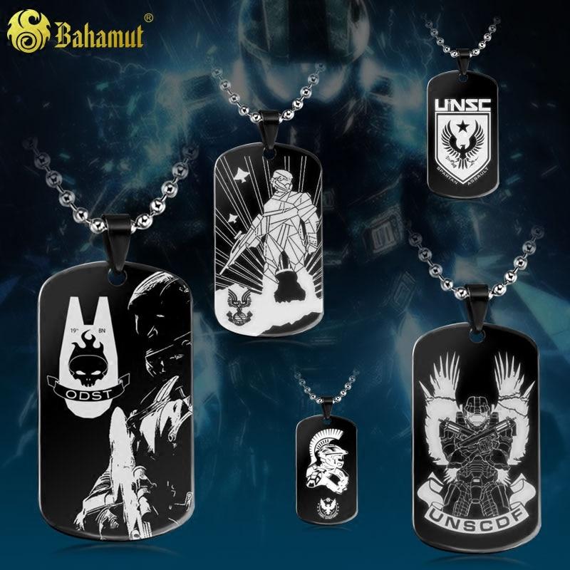 Ожерелье с цепочкой Bahamut, армейское ожерелье из титановой стали с цепочкой