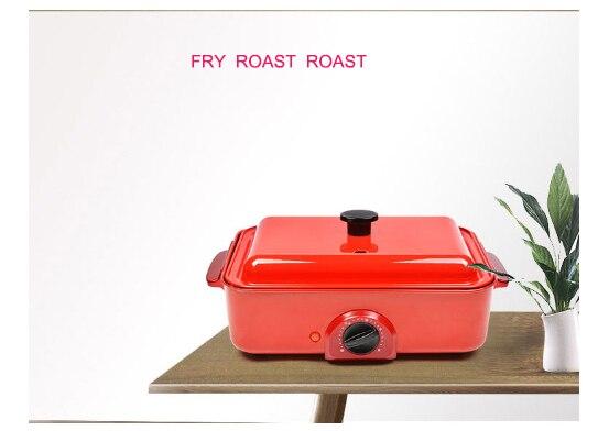Meatball fryer BBQ machine multi-functional electric hotpot baking pan iron plate shabu fryer meat baker