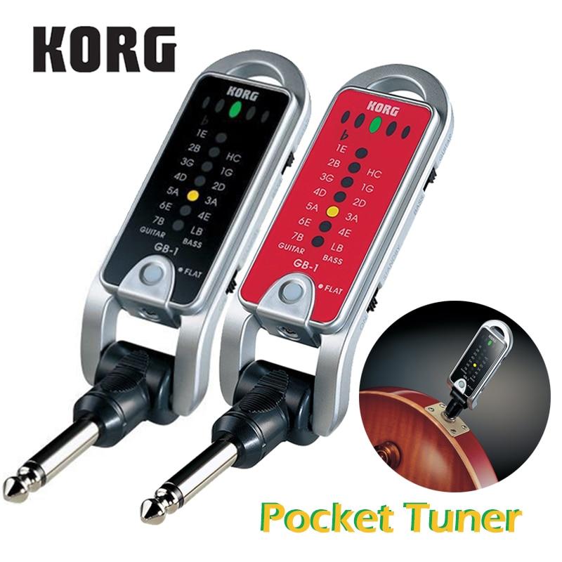 Korg pitchjack GB-1 gb1bk dobrável chaveiro/bolso sintonizador guitarra baixo sintonizador versátil