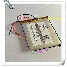 Hurtownie 10 sztuk/partia 405585 bateria litowo polimerowa bateria 3.7V 2500mAh akumulator litowo-jonowy akumulator do banku mocy mobilna DIY e-book
