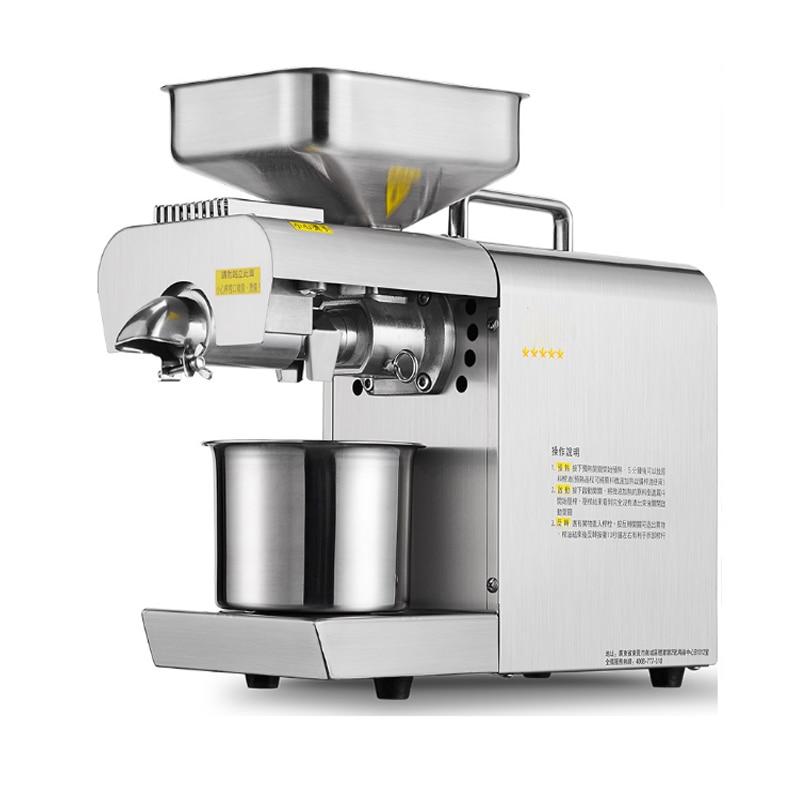 Prensadores de aceite de acero inoxidable máquina automática de prensado de aceite de maní pequeño para el hogar 220v 600w
