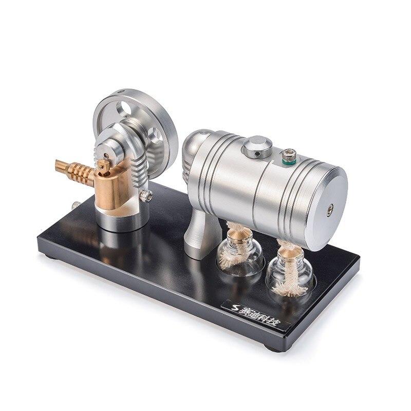 كل علبة من المعدن بداية محرك بخاري نموذج المحرك الرجعية حزام غلاية الكحول مصباح K-005