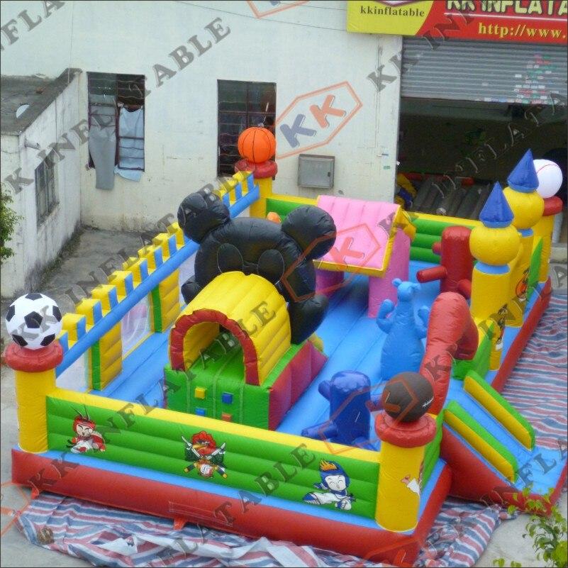 Parque de Equipamentos de boa Qualidade Crianças Brinquedo Inflável Interessante Cidade Inflável do Divertimento