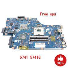 NOKOTION para Acer aspire 5741g 5742g laptop placa base NEW70 LA-5891P MBPSZ02001 HM55 con tarjeta gráfica