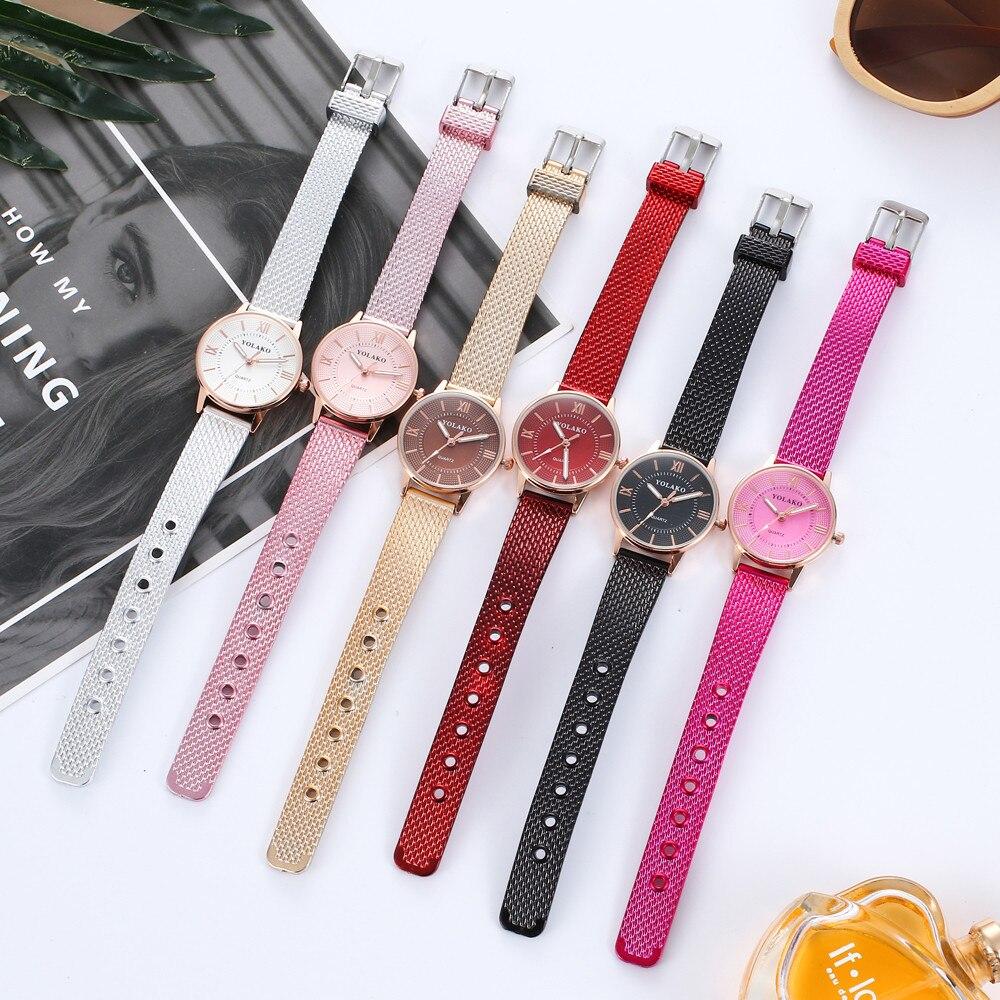 Relojes de mujer pequeño analógico de cuarzo banda de acero inoxidable casual relojes de mujer, reloj de dama de regalo de moda Dropship F913