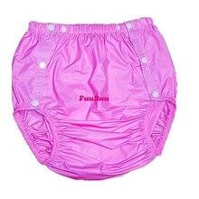 Freies verschiffen FUUBUU2203-Pink-M-1PCS erwachsene windeln nicht einweg windel kunststoff windel hosen pvc shorts