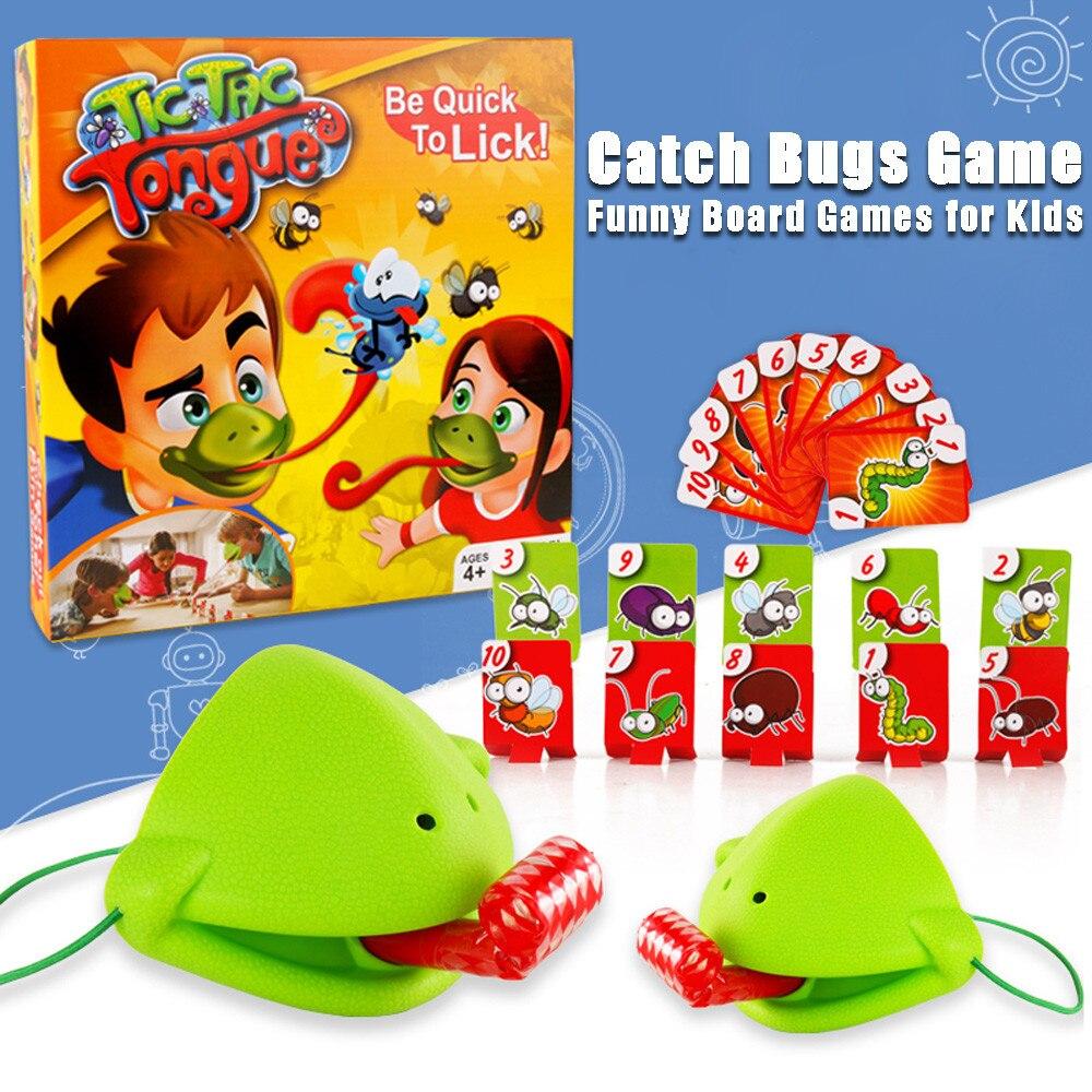 Смешные карты-едят вредителей ловят жуков игра настольные игры для детей F4