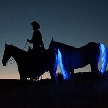 New Sports de Plein Air Équitation Queue Signes Extérieurs Équestre LED Clignotant Lumière Bar Harnais Avec USB Charge Équitation Décorations