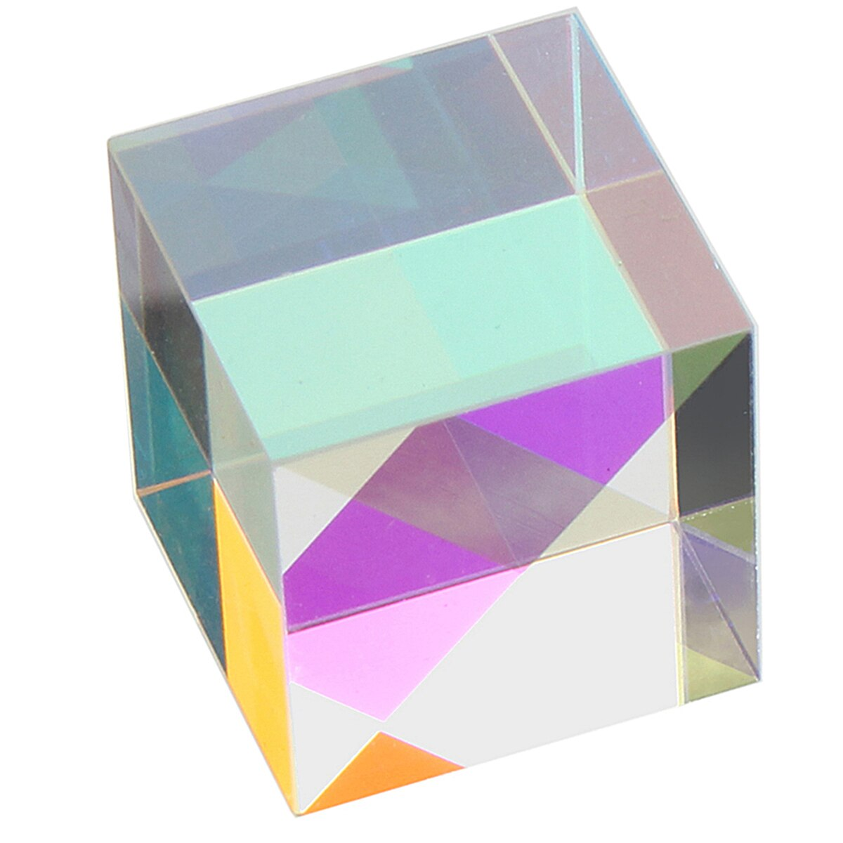 20x20mm K9 cubo prisma láser haz combinado cubo divisor vidrio decoración cuadrado cubo RGB instrumentos enseñanza herramientas Decoración