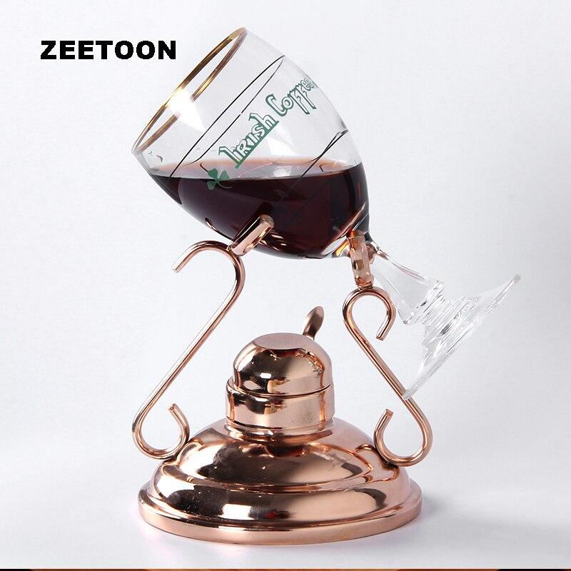 250ml France High Feet Mug Set Ireland High Temperature Resistant Tempered Glass Coffee Cups Metal Coffee Racks Beaker Roasted