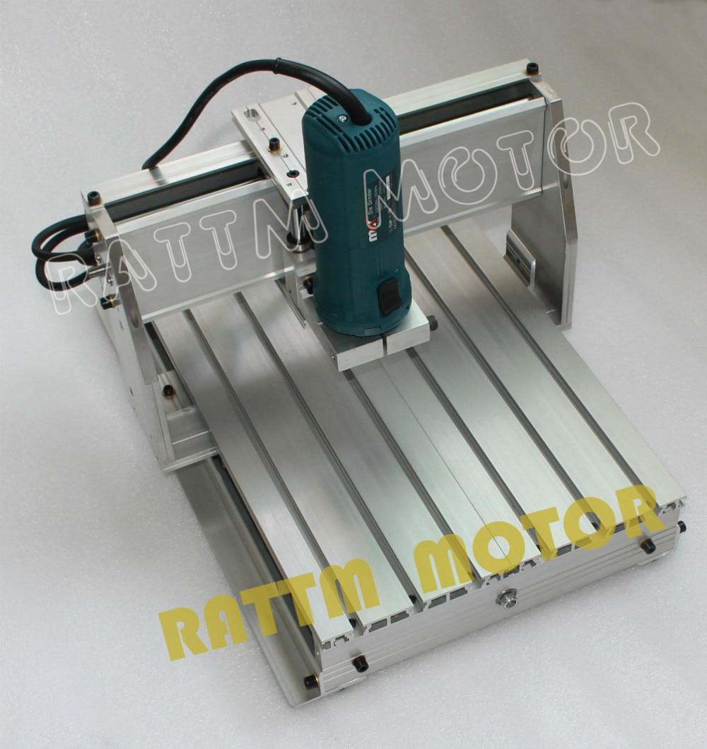 【 EU Free VAT 】  3040 CNC router milling machine mechanical kit Frame ballscrew with 43mm Neck Spindle Mount for KRESS motor enlarge